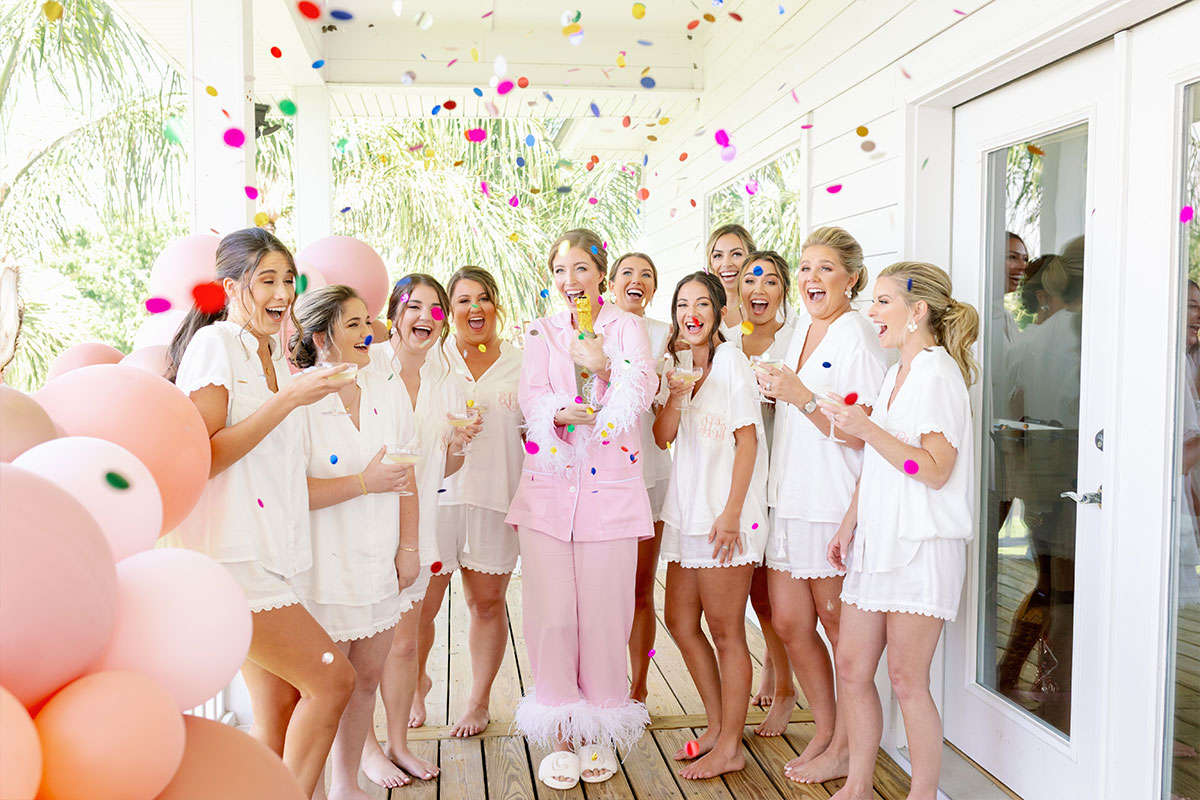 Clare with Bridesmaids