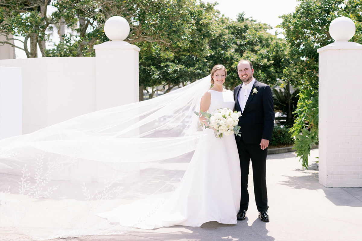 Bride (Clare) and groom